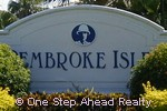 Pembroke Isles community sign
